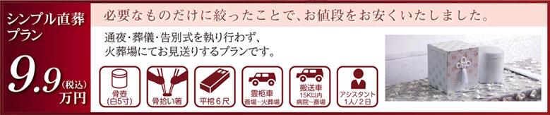 シンプル直送 費用 99,000円